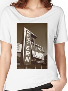 Route 66 - Western Motel Women's Relaxed Fit T-Shirt
