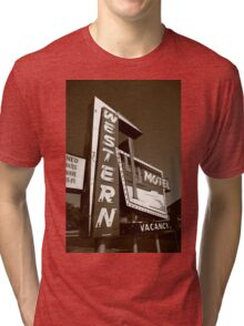 Route 66 - Western Motel Tri-blend T-Shirt