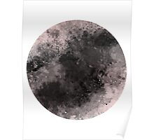 Watercolor abstract moon Poster