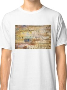 Wood background - Vintage textured wallpaper Classic T-Shirt