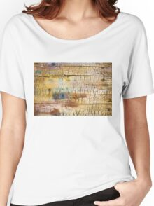 Wood background - Vintage textured wallpaper Women's Relaxed Fit T-Shirt