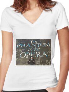 Brickography - Phantom Women's Fitted V-Neck T-Shirt