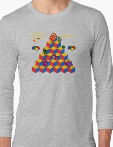Q*Bert - Video Game, Gamer, Qbert, Orange, Black, Nerd, Geek, Geekery, Nerdy Long Sleeve T-Shirt