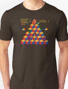 Q*Bert - Video Game, Gamer, Qbert, Orange, Black, Nerd, Geek, Geekery, Nerdy Unisex T-Shirt