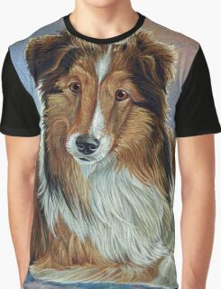 """Cute Collie painting """"Bumbalina"""" Graphic T-Shirt"""