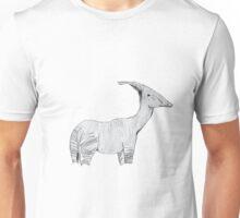 An Okapi-Parasaurolophus  Unisex T-Shirt