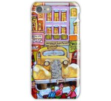 Taxi Stand Vintage Downtown Montreal Stores And Cars Montreal Memories Winter Scenes  iPhone Case/Skin