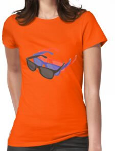 3D Glasses Three Dimensional Shades Womens Fitted T-Shirt
