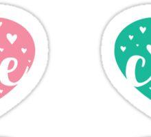cute code heart colorful stickers Sticker