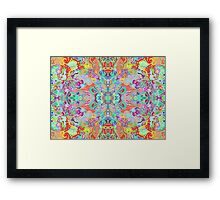 Compass Multi-colour Bold Organic Living Art Design Fractal Framed Print