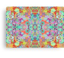 Compass Multi-colour Bold Organic Living Art Design Fractal Canvas Print
