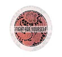 Fighting with Florals Photographic Print