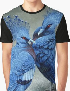 Victorian Crowned Pigeons, acrylic painting Graphic T-Shirt
