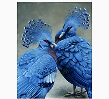 Victorian Crowned Pigeons, acrylic painting Unisex T-Shirt