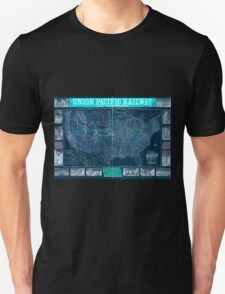 0407 Railroad Maps New map of the Union Pacific Railway the short quick and safe line to all points Inverted Unisex T-Shirt