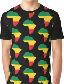Green, Gold & Red Africa Flag Graphic T-Shirt