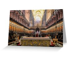 Coro - Catedral de Sevilla, Andalucia, Spain Greeting Card