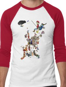 Renaissance Europe National Personification Map Men's Baseball ¾ T-Shirt