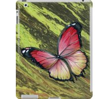 Pink Butterfly, Acrylic Painting iPad Case/Skin