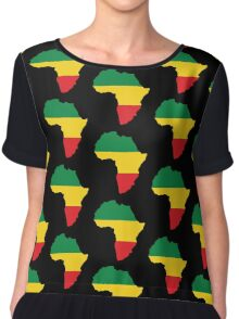 Green, Gold & Red Africa Flag Chiffon Top