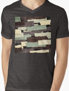 Textured Layers Abstract Mens V-Neck T-Shirt
