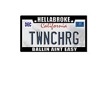 License Plate w/ Frame - TWINCHARGED Photographic Print