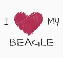 I Love My Beagle Cute Dog Lover Design One Piece - Long Sleeve