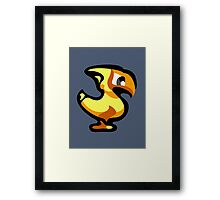 Yellow Chocobo Framed Print
