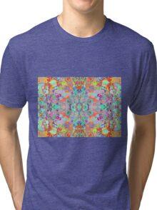 Compass Multi-colour Bold Organic Living Art Design Fractal Tri-blend T-Shirt