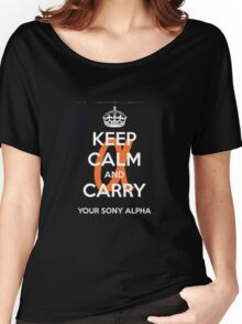 Sony Alpha  Women's Relaxed Fit T-Shirt