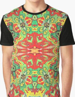 Stain Glass D Graphic T-Shirt