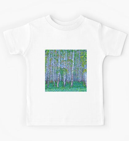 Abstract forest,hand painted,nature,forest,trees,modern,contemporary art Kids Tee