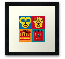 Happy Town Faces 2 Framed Print