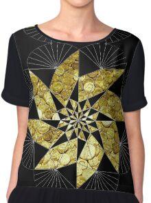Black Gold Chiffon Top