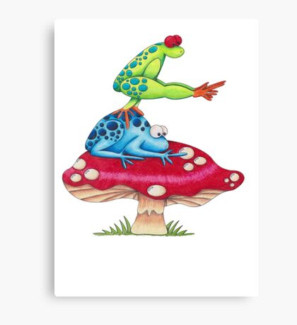 Leap Frog On a ToadStool Canvas Print