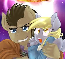 Doctor Whooves and Assistant  by PonySplash