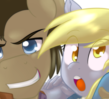 Doctor Whooves and Assistant  Sticker