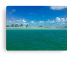 Provo - sandy spit near Caicos Canvas Print