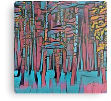 Abstract forest,hand painted,nature,forest,trees,modern,contemporary art Metal Print