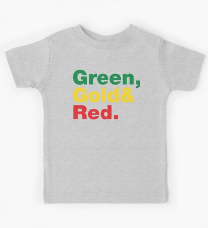 Green, Gold & Red. Kids Tee