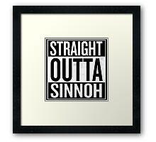 Straight Outta Sinnoh Framed Print