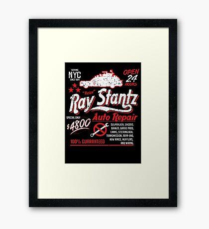 Ray Stantz Auto Repair Framed Print