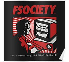 MR ROBOT - FSOCIETY Poster