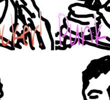 Pop Art Punk Rocker Sticker