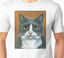 "Grey Tuxedo Cat painting ""Etna"" Unisex T-Shirt"