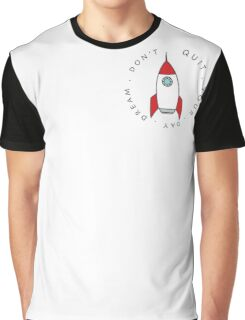 Space Dream Red Rocket Graphic Graphic T-Shirt