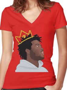 King Capital Steez Women's Fitted V-Neck T-Shirt
