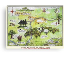 Hundred Acre Woods Map- Winnie the Pooh Canvas Print