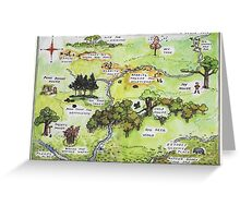 Hundred Acre Woods Map- Winnie the Pooh Greeting Card