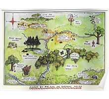 Hundred Acre Woods Map- Winnie the Pooh Poster